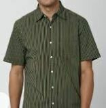 Striped Grey Casual Shirt, Half Sleeves