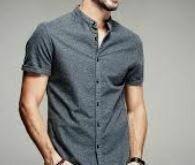 Cotton Casual Half Sleeves shirt, Shaded Black
