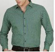 Small Checks, Green Full Sleeves