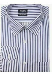 White-Blue Stripes Formal shirt, Full Sleeves