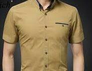 Cotton Formal Shirt, Brown Shade, Half Sleeves