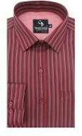 Maroon Stripes Formal shirt