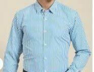 Blue Stripes Formal Shirt, Full Sleeves