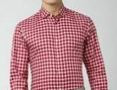 Small Checkered Formal Shirt, Red Full Sleeves