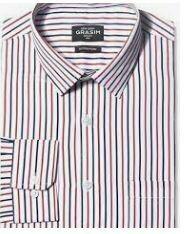 White Blue Red Stripes, Formal Shirt
