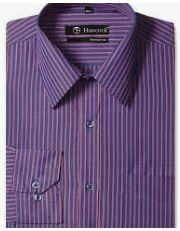 Violet, Striped Cotton Formal Shirt