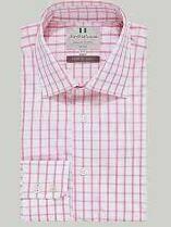 White Pink Checkered Formal Shirt
