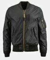 Jacket Zipper Closure, Polyester, Black