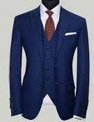 Three Piece Suit, Navy Blue