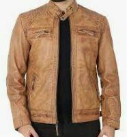 Genuine Leather Jacket, Tan