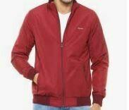 Sports Jacket, Zipper Closure, Red