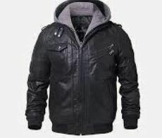 Hoodied Zipper Jacket, Black