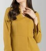 Formal Full Sleeves Top, Yellow