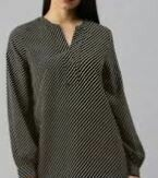 Full Sleeves Formal Cotton Top, Grey