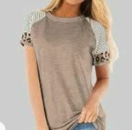 Cotton Casual Top, Brown, Half Sleeves