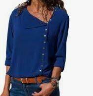 Blue Casual Shirt, Full Sleeves
