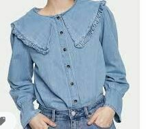 Full Sleeves Blue Shaded Casual Top