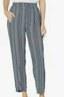 Striped Regular Fit Trouser, Grey-Black