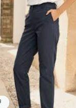 Blue Regular Fit Casual Trouser