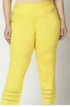 Casual Skin Fit Trouser, Yellow