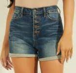 Womens' Denim Shorts, Blue