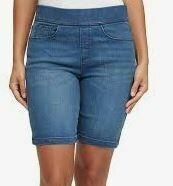 Slim Fit Denim Shorts, Navy Blue