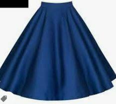 Solid Blue Skirt