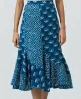Full Length Designer Skirt, Blue