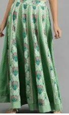 Casual Designer Long Skirt, Green