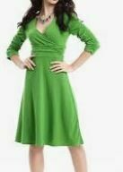 3/4 Sleeves  Green party Dress