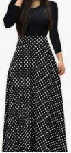 Printed Maxi Dress, Black