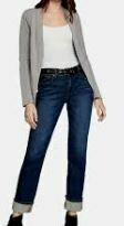 Blue Denim With Grey Jacket