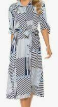 Casual Midi Dress, Grey
