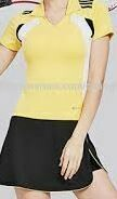 Tennis Wear, Black Skirt with Yellow T-Shirt