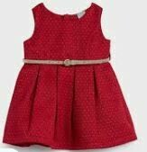 6 Months Baby Dress, Red