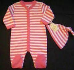 New Born Baby's Cotton Stripes Dress