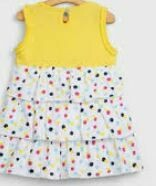Yellow-White Frock for Baby Girl