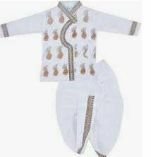 White Traditional Dhoti Model, Baby Boy