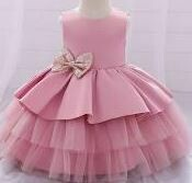 Netted Frock, Pink