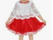 White-Red Kid's Dress