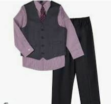 Grey Colored 3 pcs. Casual Suit for Kids