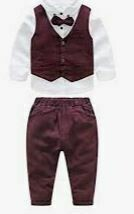 Burgundy Trouser, Jacket with White Shirt