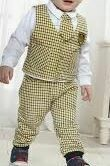 White Shirt with Grey Checkered Jacket with Trouser