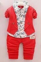 Casual Red jacket, Trouser - Boys