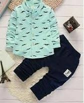 Denim Trouser with Printed Shirt
