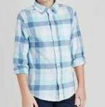 Blue-White Checkered Casual Shirt
