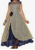 Netted Blue-Grey Dress