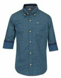 Cotton Full Sleeves Blue Shirt