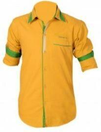 Casual Yellow Shirt, Full Sleeves