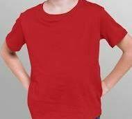 Red Cotton Round Neck T-Shirt